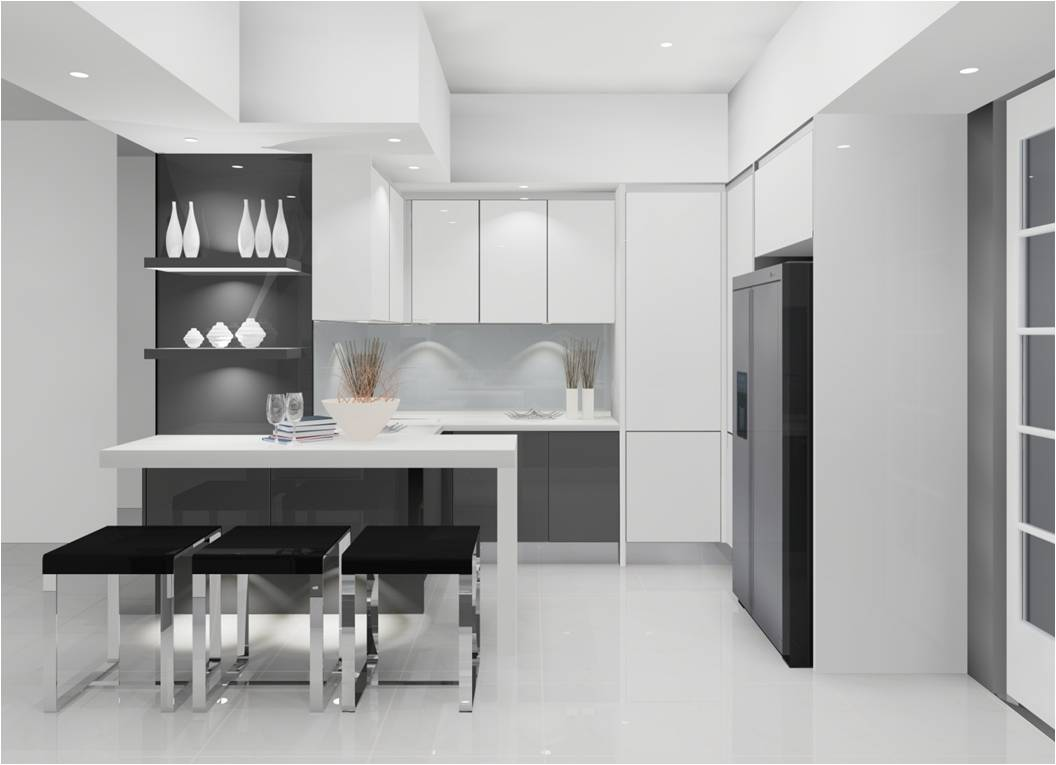 Modern Custom Kitchen White NYC